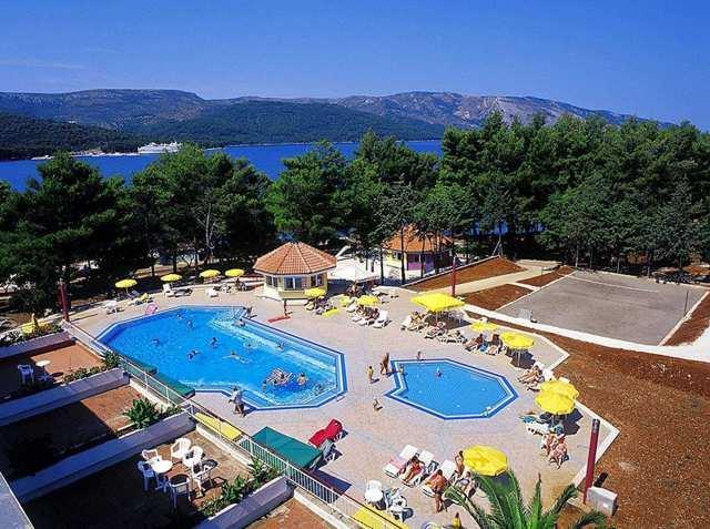widok z hotelu Lavanda