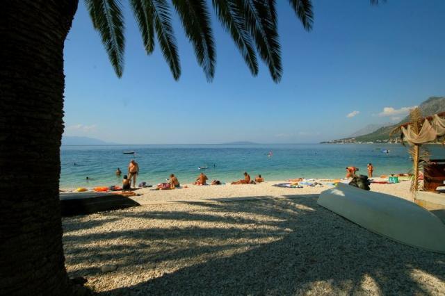 Plaża przy hotelu Laguna • Gradač